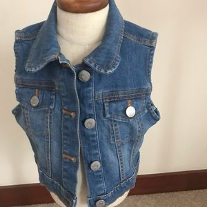 Denim kids vest by Gymboree